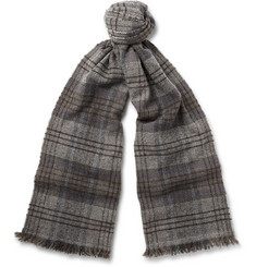 Brunello Cucinelli Checked Cashmere Scarf