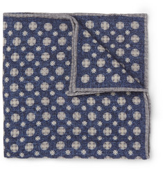 Brunello Cucinelli Medallion-Print Wool Pocket Square
