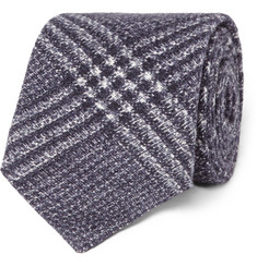 Brunello Cucinelli - Checked Wool and Silk-Blend Tie