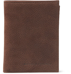 Brunello Cucinelli Full-Grain Nubuck Billfold Wallet