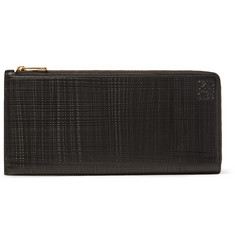 Loewe - Embossed Cross-Grain Leather Wallet