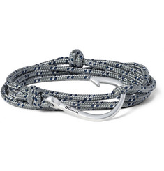 Miansai Cord and Silver-Plated Hook Wrap Bracelet