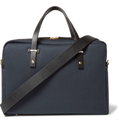 Miansai Leather-Trimmed Cotton-Canvas Briefcase