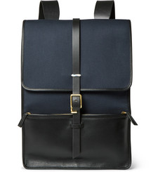 Miansai Leather and Canvas Backpack