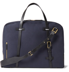Miansai Monroe Leather-Trimmed Canvas Holdall