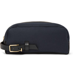 Miansai Liddo Leather-Trimmed Canvas Wash Bag