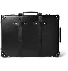 "Globe-Trotter - 21"" Croc-Effect Leather-Trimmed Carry-On Suitcase"