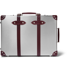 "Globe-Trotter - + EKOCYCLE™ 21"" Leather-Trimmed Aluminium Trolley Case"