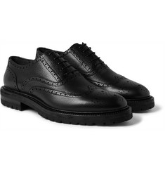 Burberry - Pebble-Grain Leather Wingtip Brogues