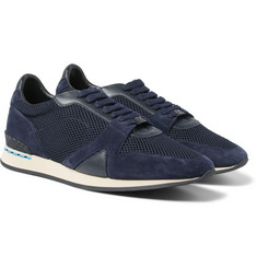 Burberry - Panelled Suede, Leather and Mesh Sneakers