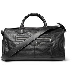 Balenciaga Squash Creased-Leather Holdall