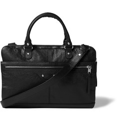 Balenciaga Creased-Leather Briefcase
