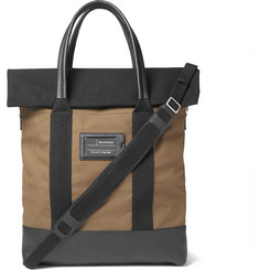 Balenciaga - Leather-Trimmed Canvas Tote Bag