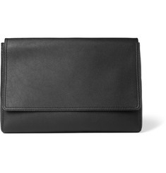 Balenciaga Grained-Leather Pouch