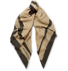 Balenciaga Printed Wool And Cashmere-Blend Scarf