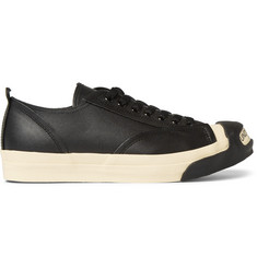 Undercover Logo Leather and Rubber Sneakers
