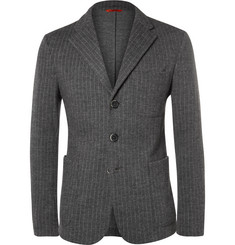 Barena Chalk-Stripe Wool and Cotton-Blend Jacket