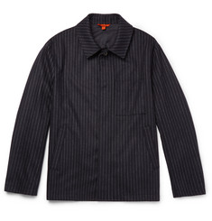 Barena Pinstriped Wool-Blend Jacket