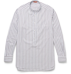 Barena - Bruno Grandad-Collar Striped Cotton Shirt