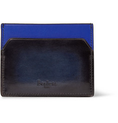 Berluti Bambou Two-Tone Polished-Leather Cardholder