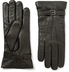 Berluti Cashmere-Lined Full-Grain Leather Gloves