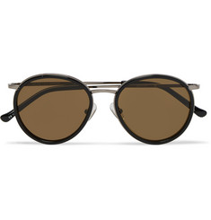 Dries Van Noten Round-Frame Acetate and Silver-Tone Sunglasses