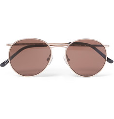 Dries Van Noten Round-Frame Rose Gold-Tone Sunglasses