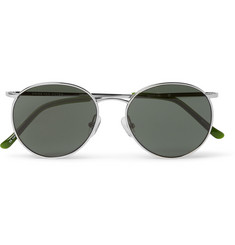 Dries Van Noten Round-Frame Silver-Tone Sunglasses