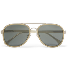 Dries Van Noten Aviator-Style Acetate and Silver-Tone Sunglasses