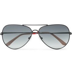 Orlebar Brown Aviator-Style Metal Sunglasses