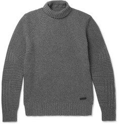 Belstaff Littlehurst Ribbed Wool and Cashmere-Blend Rollneck Sweater