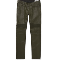 Belstaff Eastham Slim-Fit Coated Stretch-Denim Biker Jeans