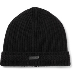 Belstaff Aldergrove Ribbed Virgin Wool and Cashmere-Blend Beanie