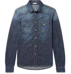 Tomas Maier Slim-Fit Washed-Denim Western Shirt