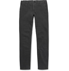 Tomas Maier Slim-Fit Washed Stretch-Cotton Trousers