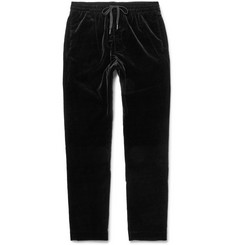 Tomas Maier Drawstring Stretch-Cotton Velvet Trousers