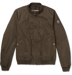 Belstaff Pendine Waxed Stretch-Cotton Canvas Bomber Jacket