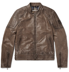 Belstaff Slipway Distressed Leather Jacket