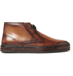 Berluti Polished-Leather Desert Boots
