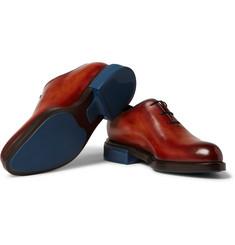 BerlutiBlake Whole-Cut Polished-Leather Oxford Shoes