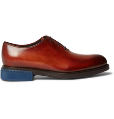 Berluti Blake Whole-Cut Polished-Leather Oxford Shoes