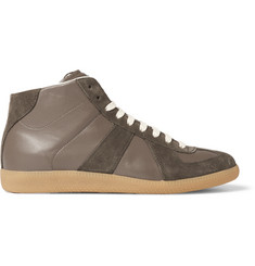 Maison Margiela Replica Suede and Leather High-Top Sneakers