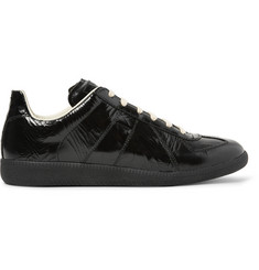 Maison Margiela Replica Textured Patent-Leather Sneakers