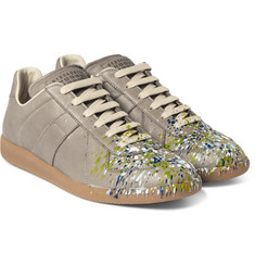 Maison Margiela - Replica Paint-Splattered Leather Sneakers