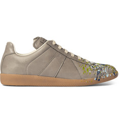 Maison Margiela Replica Paint-Splattered Leather Sneakers
