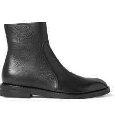 Maison Margiela Grained-Leather Boots