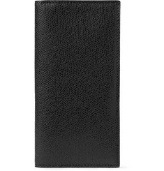 Valextra Pebble-Grain Leather Travel Wallet