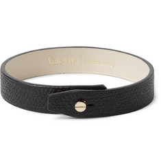Valextra - Pebble-Grain Leather Bracelet
