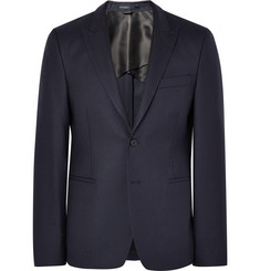 Acne Studios Blue Stanford Slim-Fit Herringbone Wool Suit Jacket