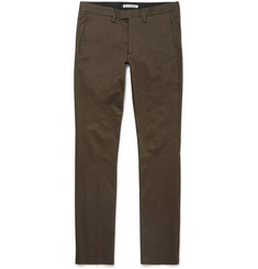 Acne Studios Max Satin Slim-Fit Stretch-Cotton Chinos